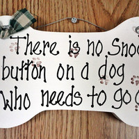 Pet sign, letting the dog out, alarm clock, snooze button