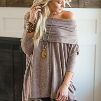 Marled Convertible Off Shoulder Tunic