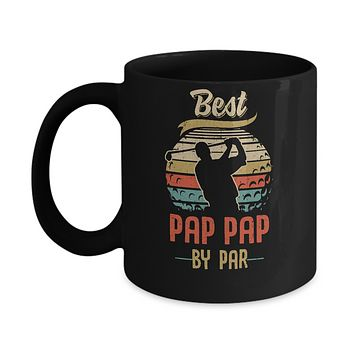 Vintage Best Pap Pap By Par Fathers Day Funny Golf Gift Mug