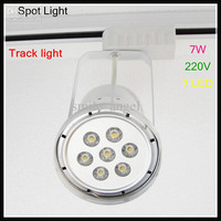 Hot Selling Track light 7pcs LED 7W Spot light 220V for clothing stores with warm /cold white light