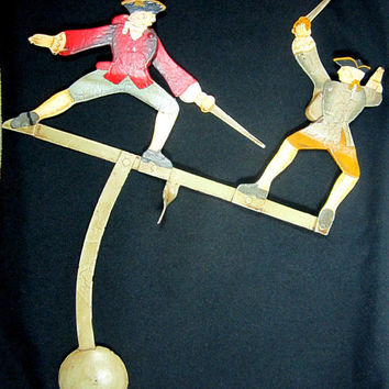 Sword Fight Swashbuckler Fencing Early American Dueling Balancing Toy Metal Skyhook