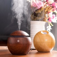 Mini Portable Mist Maker Aroma Essential Oil Diffuser Ultrasonic Aroma Humidifier Light Wooden USB Diffuser For Home Car Office