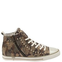 Ellen Camouflage High-Top Sneakers at Guess