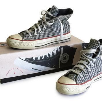 1970s converse high tops chuck taylor all star made in usa with box black and white