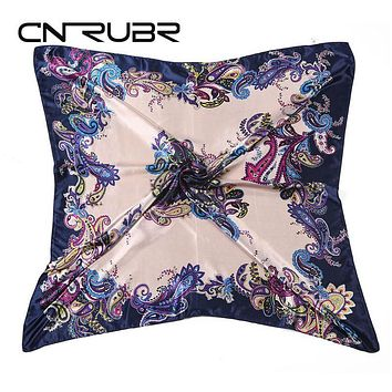 High Quality Imitated Silk Satin Scarves 90*90CM Square Printed Satin Large  Female Shawl 8 Colors Beautiful Women Scarf
