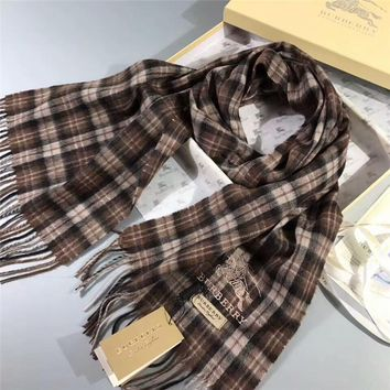 Luxury Burberry Keep Warm Scarf Embroidery Scarves Winter Wool Shawl - Multicolor 1