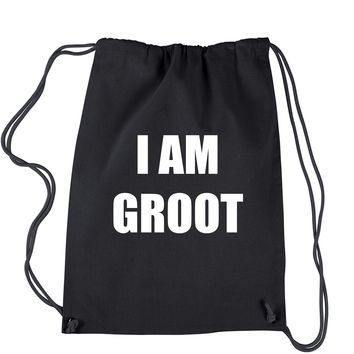 I Am Groot  Drawstring Backpack