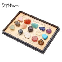 KiWarm 1 Pack Rock Collection Mix Gems Crystals Natural Mineral Ore Specimens Gemstone with Box Home DIY Decoration Ornaments