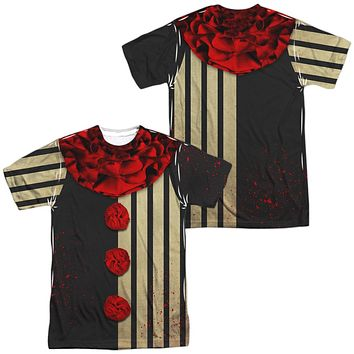 Creepy Clown Halloween Costume T-shirt Front & Back