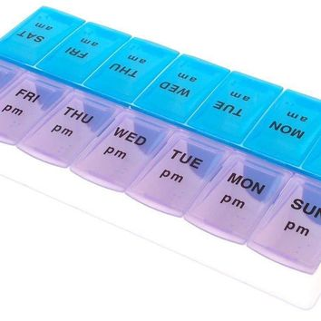 Useful 28-slot Travel Pill Box Storage Weekly 7-day Medicine Container Holder Medical Storage Box Kit Living Supplies New Fine Workmanship Storage Boxes & Bins