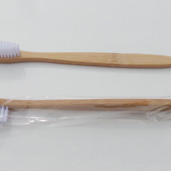 WHITE Bamboo Toothbrush! SOFT Bristles,Biodegradable & Natural Anti Bacterial!