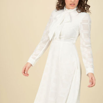Dignified Delivery Shirt Dress in White | Mod Retro Vintage Dresses | ModCloth.com