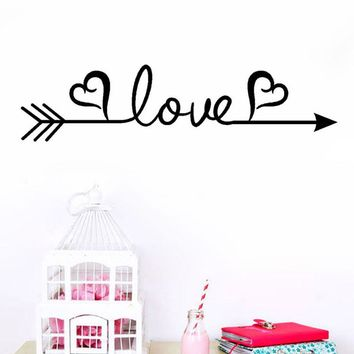 Love Arrow Decal Living Room Bedroom Vinyl Carving Wall Decal Sticker wall stickers home decor adesivo de parede