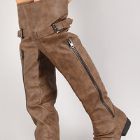 Land-4 Thigh High Round Toe Riding Boot