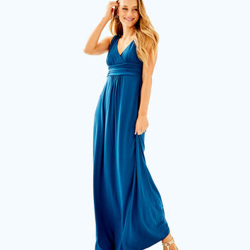 Sloane V-Neck Maxi Dress | 97176-inkynavy | Lilly Pulitzer
