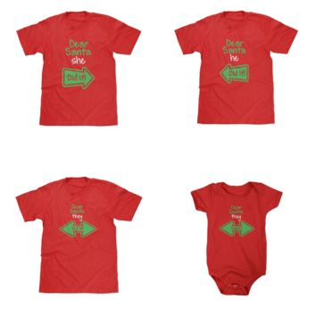 Dear Santa Red Shirts Available in Adult & Youth Sizes