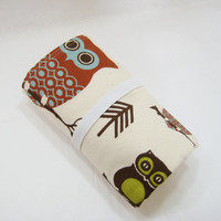 Owl Changing Mat, Owl Diaper Changing Pad, Baby Shower Gift Idea, Diaper Accessory