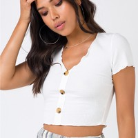 Tip Toe Crop Top White