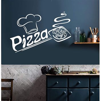 Vinyl Wall Decal Pizza Italian Restaurant Pizzeria Italy Food Kitchen Interior Stickers Mural (ig5681)
