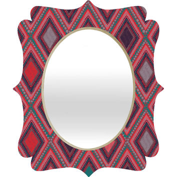 Vy La Eastern Diamond Quatrefoil Mirror