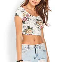 Soft Floral Crop Top