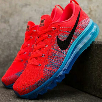 """NIKE"" Trending Fashion Casual Sports Shoes Gradient Red blue"
