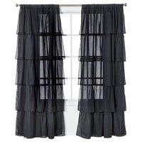 "Xhilaration® Ruffle Black Window Panel - (50x84"")"