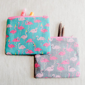 Pink Flamingo Gift for Her/ Make Up Bag/ Gift for Women/ Gift for Mom/ Sister Gift/ Pencil Case/ Girlfriend Gift/ Graduation Gift/ Pouch