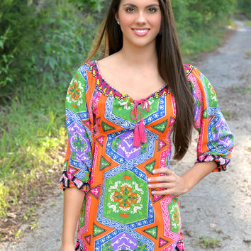 Soul Dancer Pink Tunic Dress