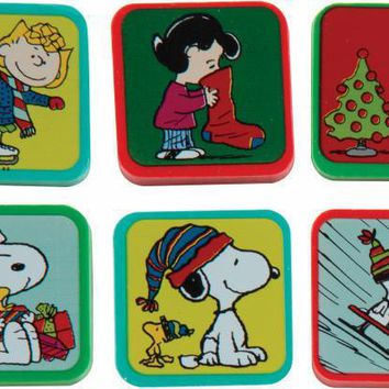 Peanuts Holiday Character Eraser 48-Box - CASE OF 48