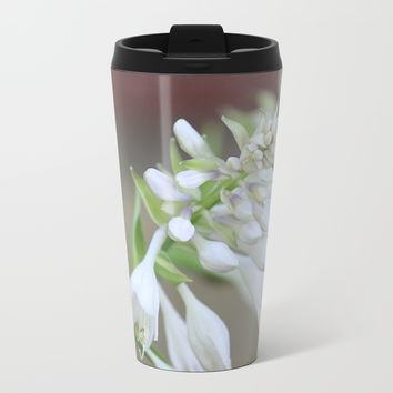 Foxglove Penstemon Metal Travel Mug by Theresa Campbell D'August Art