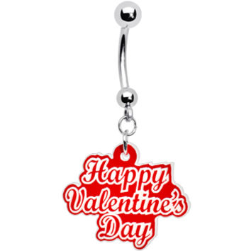 Happy Valentines Day Belly Ring | Body Candy Body Jewelry
