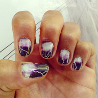 Lightning Storm Nail Art Decals by NailSpin on Etsy