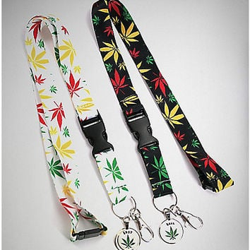 Best Buds Rasta Leaf Lanyards - Spencer's