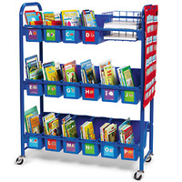 Leveled Library Mobile Storage Cart at Lakeshore Learning