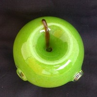 Hand Blown Green Apple Glass Pipe