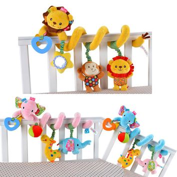 3 Styles Cute!! Musical Elephant Or Lion, Multifunctional Crib Hanging Rattle