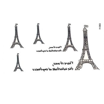 New Eiffel tower waterproof temporary tattoos tatuajes temporales henna tattoo sleeves gold tattoo tatoo fake  flash tatoos