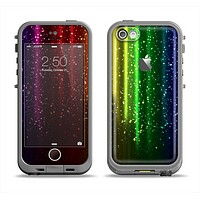 The Neon Glowing Rain Apple iPhone 5c LifeProof Fre Case Skin Set