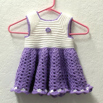 Crochet Dress Lavender Toddler Size T2