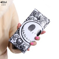Bifold Wallet Purse Cartoon Skull Women Men Girl Boy Leather Purses Wallets Card Case Holder Bag The Nightmare before Christmas