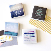 Quote magnets, inspirational quotes, fridge magnets, inspiring quotes, gifts for girls, gifts for friends, quote decor, birthday gift, tile