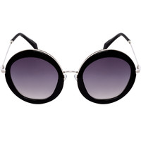 A.J. Sunglasses - Black/Silver