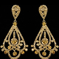Opulence Earrings in Gold – bandbcouture.com