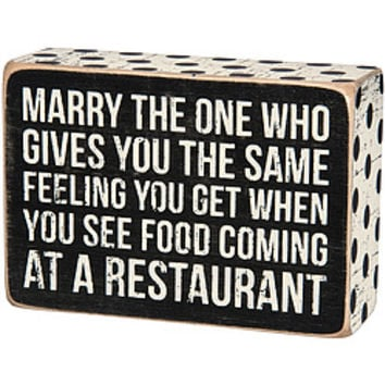 Marry The One Box Sign
