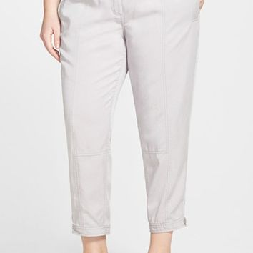 Plus Size Women's Eileen Fisher Tencel Button Tab Cuff Ankle Pants