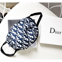 Dior Masks atin and glossy fabrics, high-quality cotton Protective mask blue