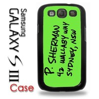 Samsung Galaxy S3 Plastic Case - Nemo Address