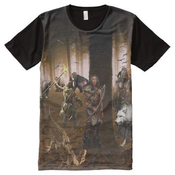 CAVE MAN HUNTING IN DEEP FOREST All-Over-Print T-Shirt