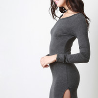 Jersey Knit Long Sleeve Mini Dress